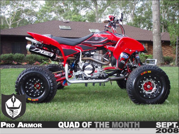 Honda Kill Switch Red Honda TRX450R ATV - Pro Armor's September '08 Quad of ...