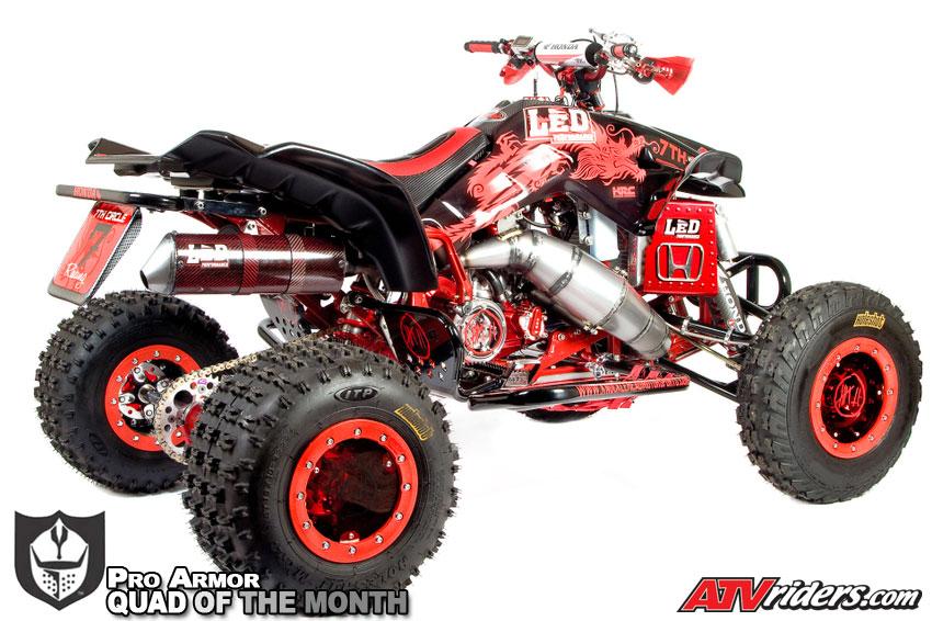 Jason Moore S 1986 Red Honda Trx250r Atv Pro Armor April 09 Quad