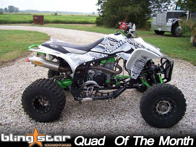 josh stremme green white honda trx450r atv right green and white honda trx450r atv november '09 blingstar quad of Honda TRX450R Parts at honlapkeszites.co