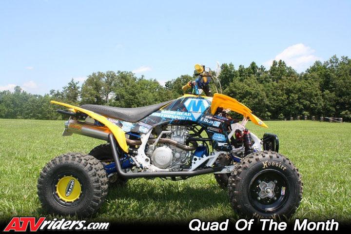 adam-houchin-2010-qotm-yamaha-yfz450r-yellow-blue-atv-right Yfz Wire Harness on raptor vs, flat track, race bike, nerf bars, kory ellis,