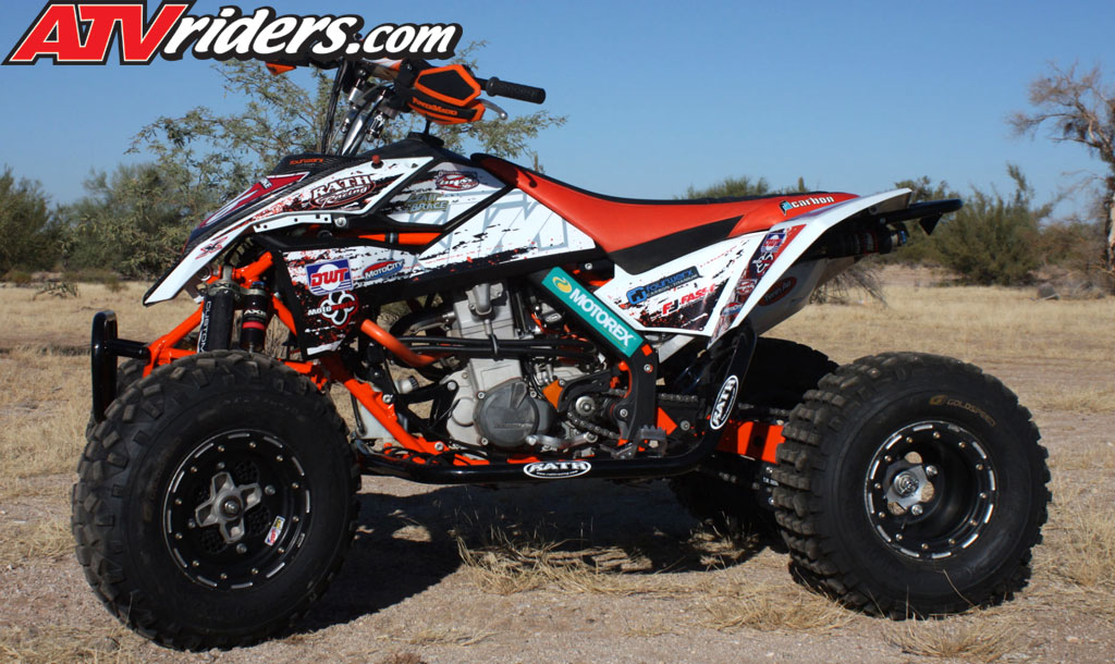 quad of the month - november 2012 - conrad funke's ktm 450 sport atv