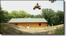 jumps surrounding Doug Gust's house