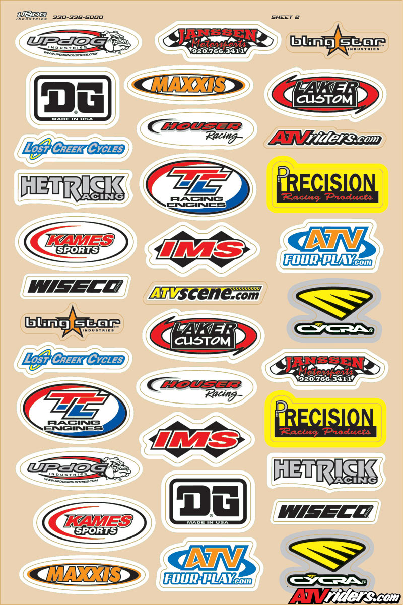 Updog Industries Introduces New Atv Logo Sticker Sheets