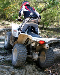 2006 Yamaha wolverine 450 on-command 4x4 ATV fender mounted four position shifter