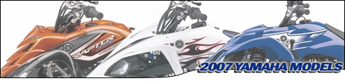 Yamaha 2007 ATV Model Lineup Header