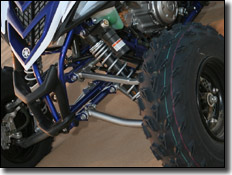 2007 Yamaha YFZ450 & Raptor 700 Special Edition piggy back front shocks with high and low speed adjustment
