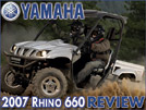 2007 Yamaha Rhino 660 UTV / SideXSide Vehicle Review