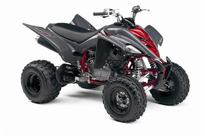 2008 Yamaha Raptor 700R ATV Red Gray