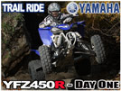2009 Yamaha YFZ450R ATV Trail Ride Review - Day One