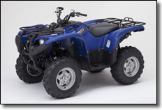 2012 Yamaha Grizzly Utility ATV with Steel Blue plastic