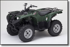 2012 Yamaha Grizzly Utility ATV with Hunter Green Plastic