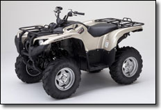 2012 Yamaha Grizzly Utility ATV Special Edition with Metallic Sandstone plastic