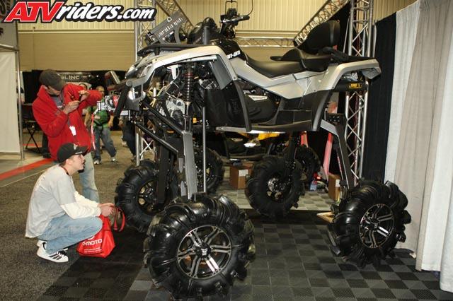 gorilla axles lifted can am outlander utility atv rh atvriders com
